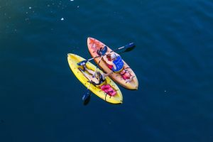 kayaks on the ocean by st. augustine