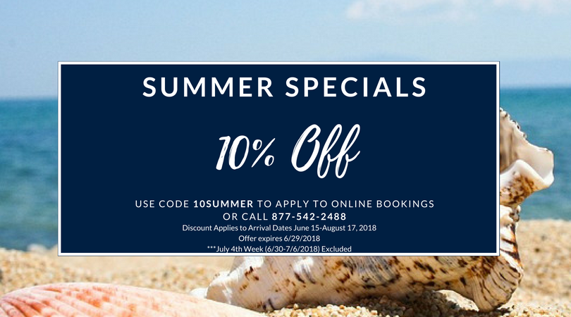 Ocean Gallery - Summer Specials June