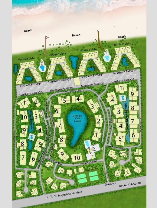 Map Of Our Condos For Rent In St Augustine Fl The Ocean Gallery