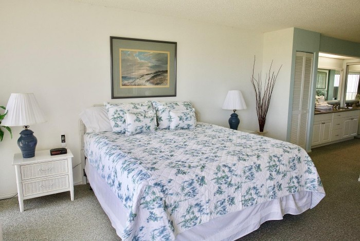 Interior of master bedroom in St. Augustine Condo