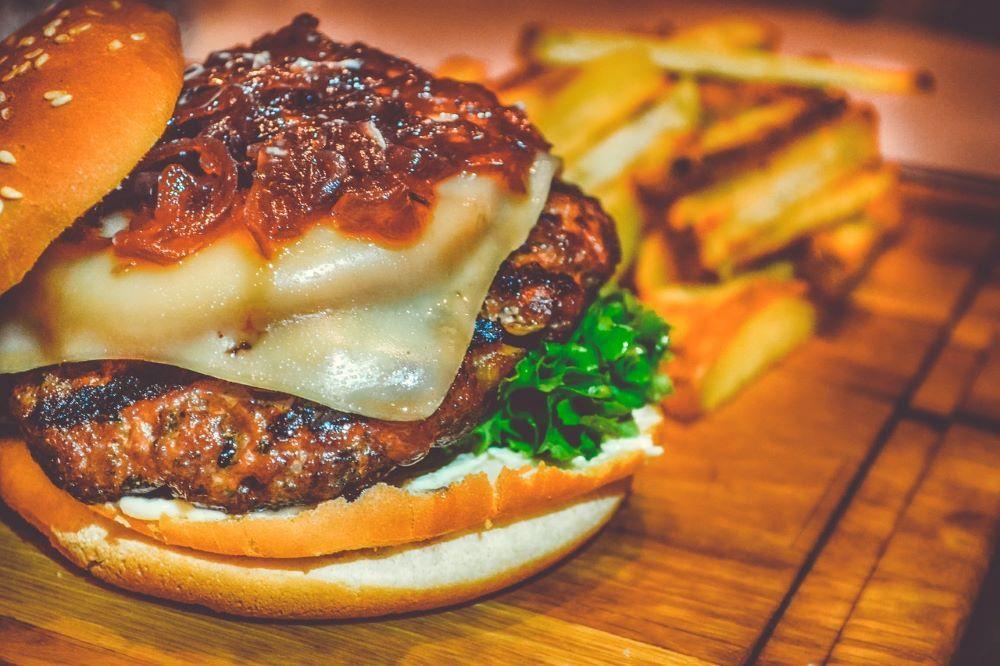 burger up close