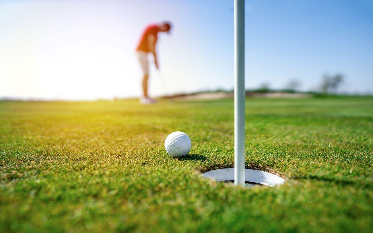 golfer on st Augustine course