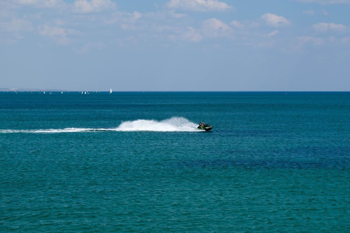 jet ski on the water
